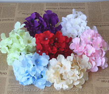 Wholesale Cheap Good Quality Colorful Silk Flower Heads Hydrangea Flowers Artificial Wedding for Decoration