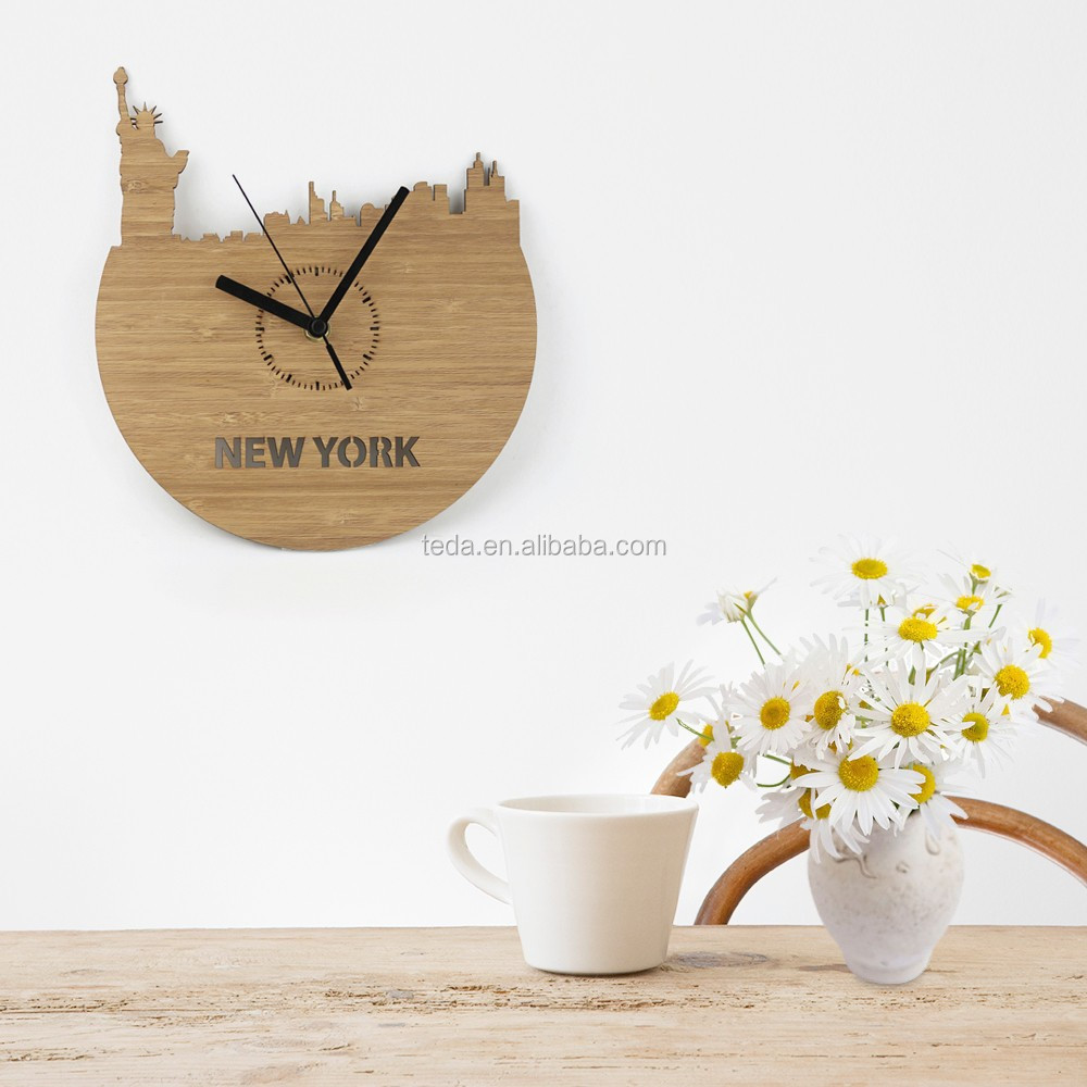 Wooden Clock Bamboo Wall Clock