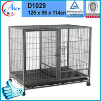 large metal folding dog cage and kennels