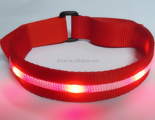LED Wrist Belts Led flash wrist bands for sports running party concert halloween and christmas decoration