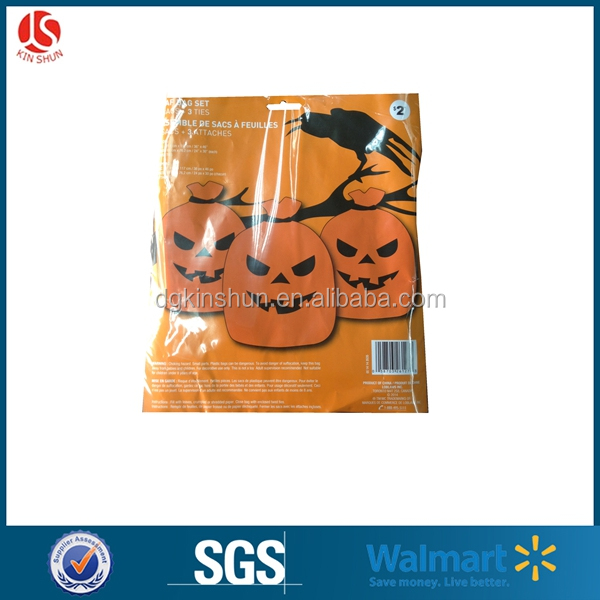 Halloween Glow in the Dark Lawn Bags - Pumpkin/ghost/frankinstein