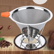 Metal Coffee Filter Pour Over Coffee Dripper Funnel Stainless Steel Mesh Strainer