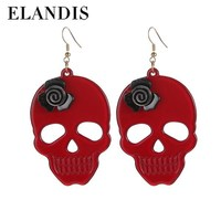 E-ELANDIS 2015 earring cheap chinese earring,Young girl animal sex with ladies cute skull earring