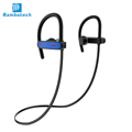 2018 high quality sweatproof earphones RU10 wireless sport earphones with earhook