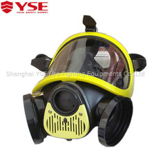 EN safety anti toxic military double cartridge full face gas mask with PC visor