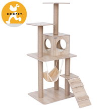 High Level Cuddle Pet Bed Wood Tree Cat Design