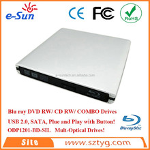 USB2.0 Portable External Optical Drive,External CD ROM/DVD ROM/DVD-RW DVD Burner with Aluminium Alloy Material