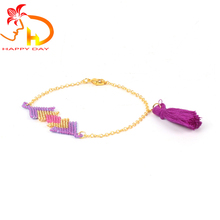 2018 HAPPY DAY fashionable adjustable tassels japanese seed bead bracelets