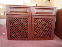 European style gridding door kitchen cabinet