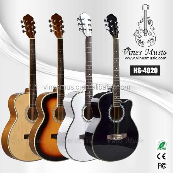 Cheap musical instruments basswood acoustic guitars for beginner
