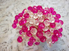 Dark Pink Fuchsia Crystal Toothpicks