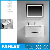 Wall Mounted Waterproof MDF Classic Bathroom Cabinet