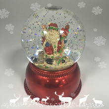 Christmas Santa Plastic Snow Globe with Blower, Santa Claus Water Globe