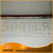 Metal sequin fabric drapery metallic wall covering