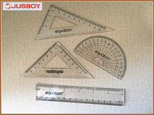 Geometry plastic ruler triangle protractor set