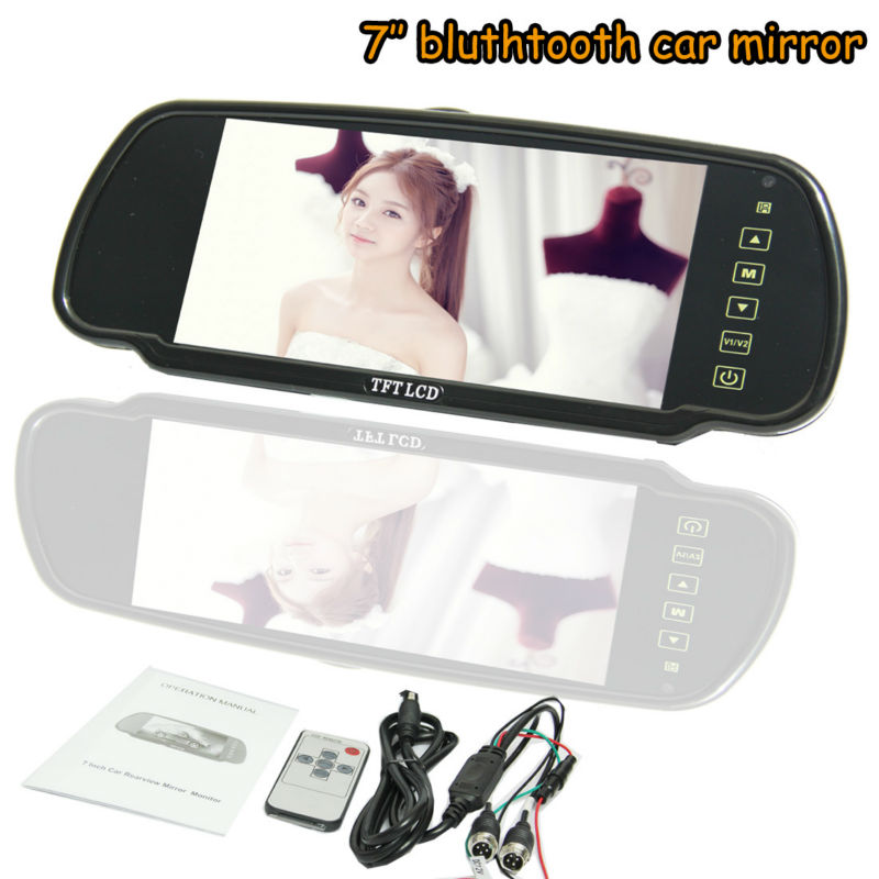2013 best sales 7 inch high definition backup camera gps mirror
