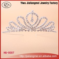 Fashion Crystal Wedding Tiaras Wholesale Pageant Crowns Tiara for Girls