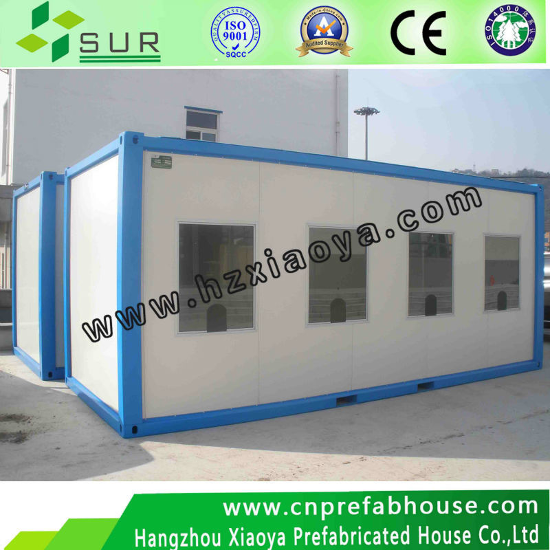 low cost prefab trailer container house