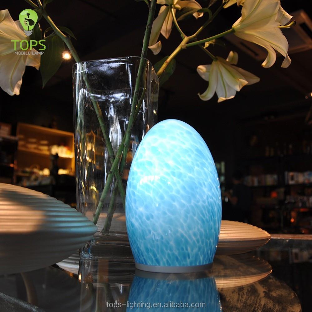 2016 새로운 디자인 손 불어 푸른 달걀 모양의 유리 led 램프-LED ...