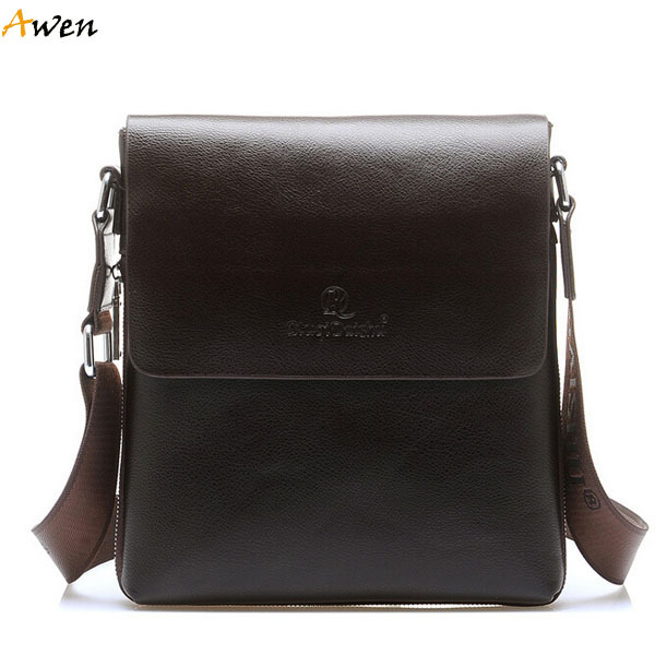 Awen Hot Factory Directly Men Leather Messenger Bag With Side Expandable Zipper 2 Size Solid Brown Mens Bags In Price On