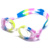 Beautiful color mix silicone wide vision  anti fog swimming goglges
