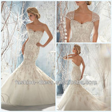 Gorgeous Sweetheart Elaborately Beaded Embroidery On Net Emovable Beaded Keyhole Coverlet Mermaid Open Back Wedding Dresses