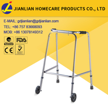 Handicapped aluminum adjustable walker with wheels JL9171LW