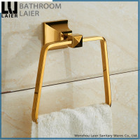middle east wholesale square design gold plated bathroom accessories towel ring