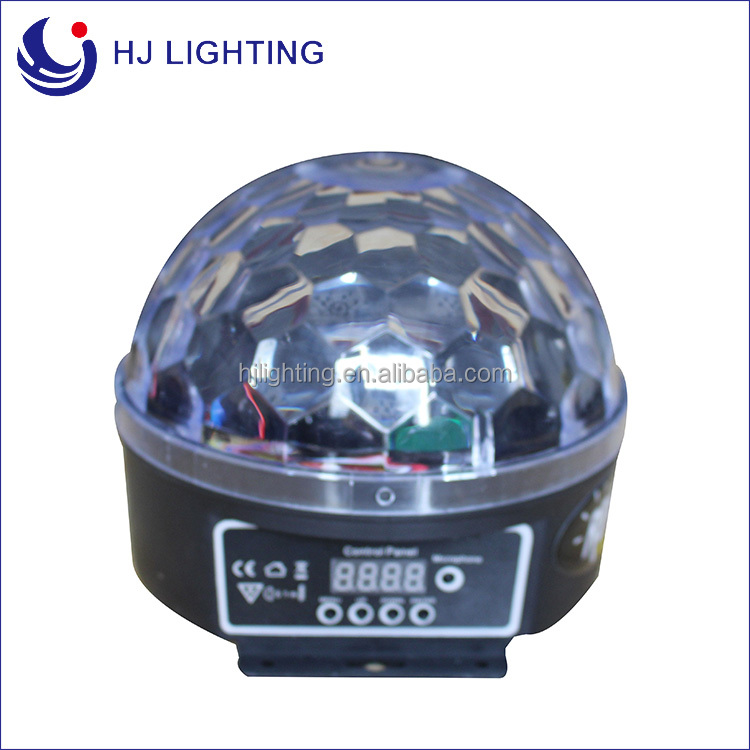 Christmas Surprise Price 6*3W small color changing LED Crystal Magic spinning Ball light