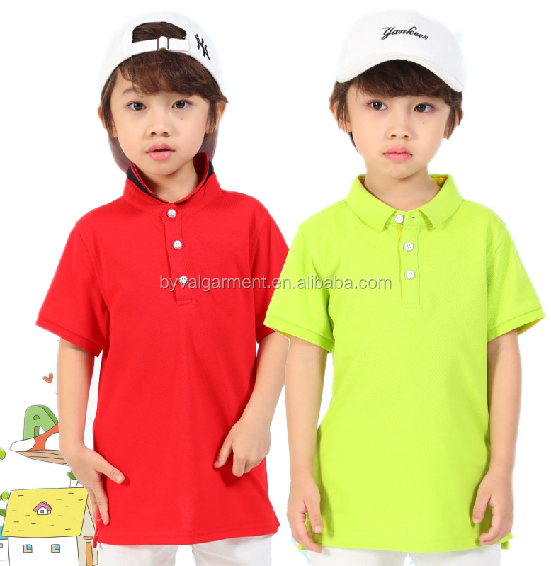 wholesale clothing factory custom pique fabric plain unbranded customized logo kids polo shirts