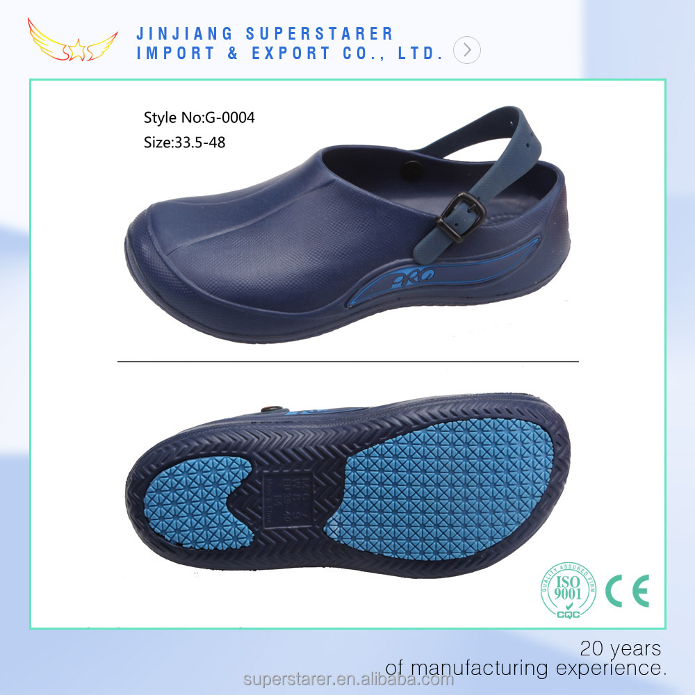 unisex nursing clogs, eva chef shoes clogs 2016