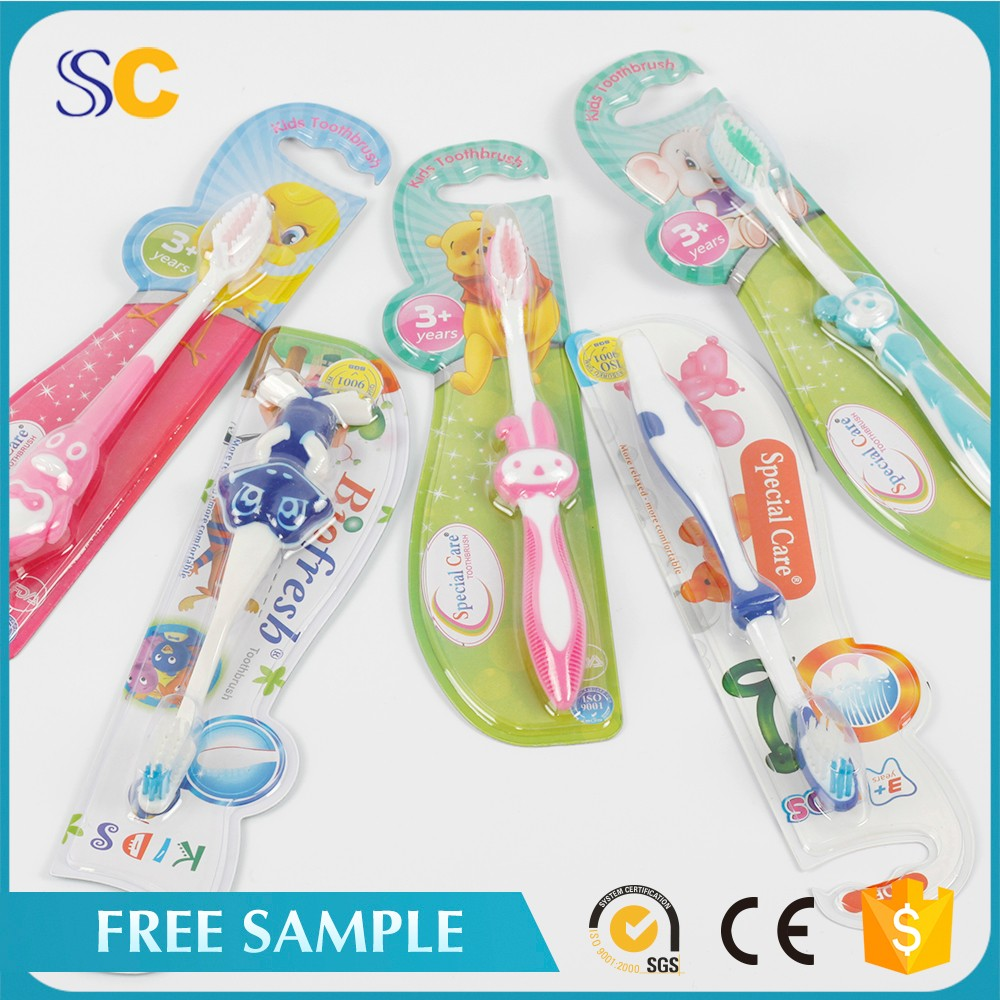 Personalized cartoon designed plastic child kid toothbrush