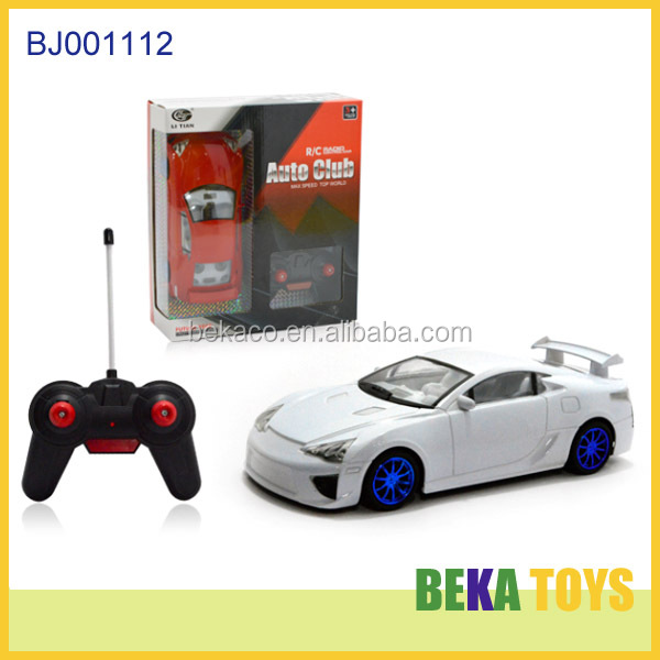 Best gift kids toy replica sport car toy remote control cars white plastic boys toys imitation club racing car