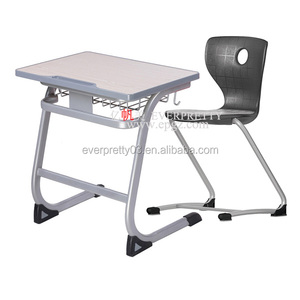 Popular Middle School Furniture Cheap Student Desk with Chair Set