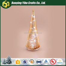 Baoying Yibo 2017 Glass Light Tree Table Top Decor for Christmas Sale