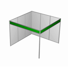 Two Sides Open Aluminum Exhibition Booth Display Stand