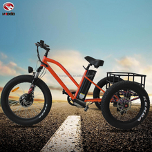 Electric fat tire cargo tricycle for adult