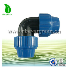pvc pipe fittings 90 degree PP compression elbow