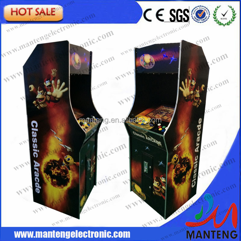 "19"" LCD street fighting (Verical) arcade Machine With Classical games 1000 in 1 Game PCB with American joystick and button"
