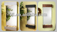 Mirror glass waterfall wall fountain for office ornaments