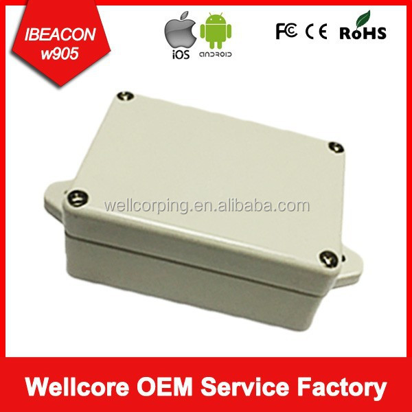 High Quality Ble I waterproof beacon Uuid Programmable Ibeacon with CR2477 Battery 5 years life time and logo on case