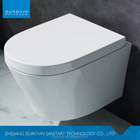 Japanese style popular mounted wall hung toilets with built-in bidet