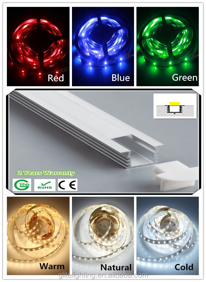 Led Recessed Bar 5050RGB 60leds/m stirip & T5 led aluminum profile highly waterproof