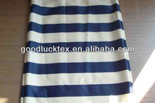 white and blue stripe printed fabric