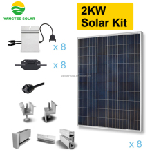 Grid tie 2000w solar system kit set home