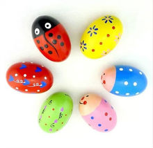 creative kids drawing any pattern healthy painting wooden eggs