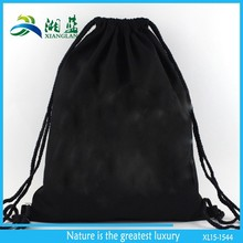 eco friendly washable cotton gym sack drawstring backpack bag