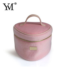 New design Fake horse hair washing use travel toilet bag for promotional gifts