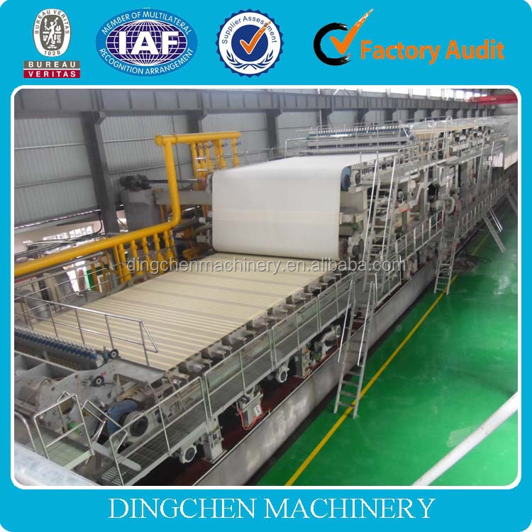 1092mm double-dryer can and double cylinder mould kraft paper/paper bag making machine stock for sale