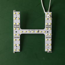 Small H shaped smd led 2835 circuit pcb board for channel letter led sign alphabet
